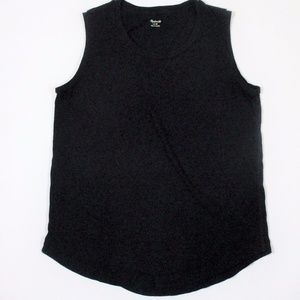 Madewell M Solid Black Muscle T Tank Top Shirt EUC
